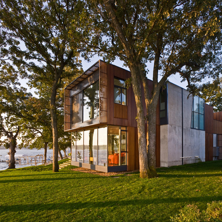 Architecture Photography Houses house on lake okoboji / min | day | archdaily