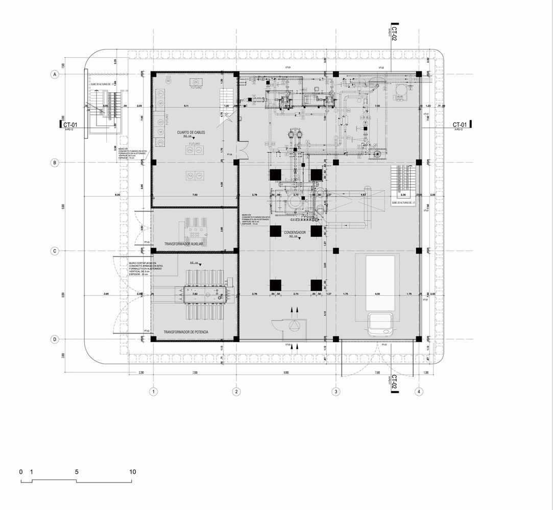 Argos, Building for an Electrical Generator at a Cement Factory,first floor  plan