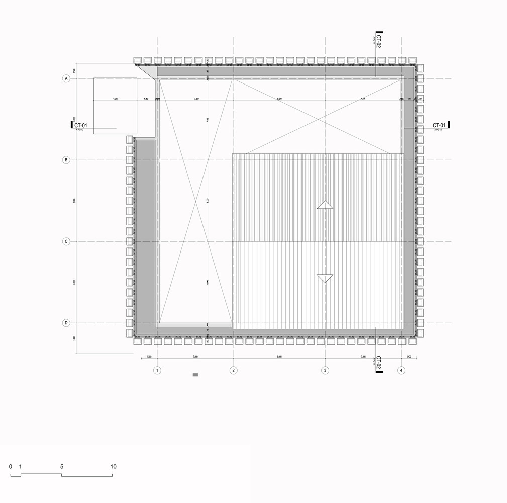 Argos, Building for an Electrical Generator at a Cement Factory,roof plan
