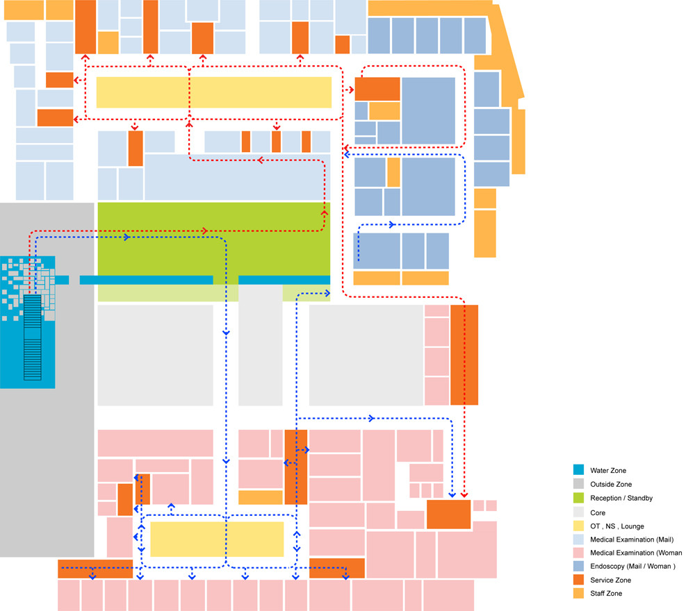 Gallery of kangbuk samsung hospital hyunjoon yoo for Architecture zoning