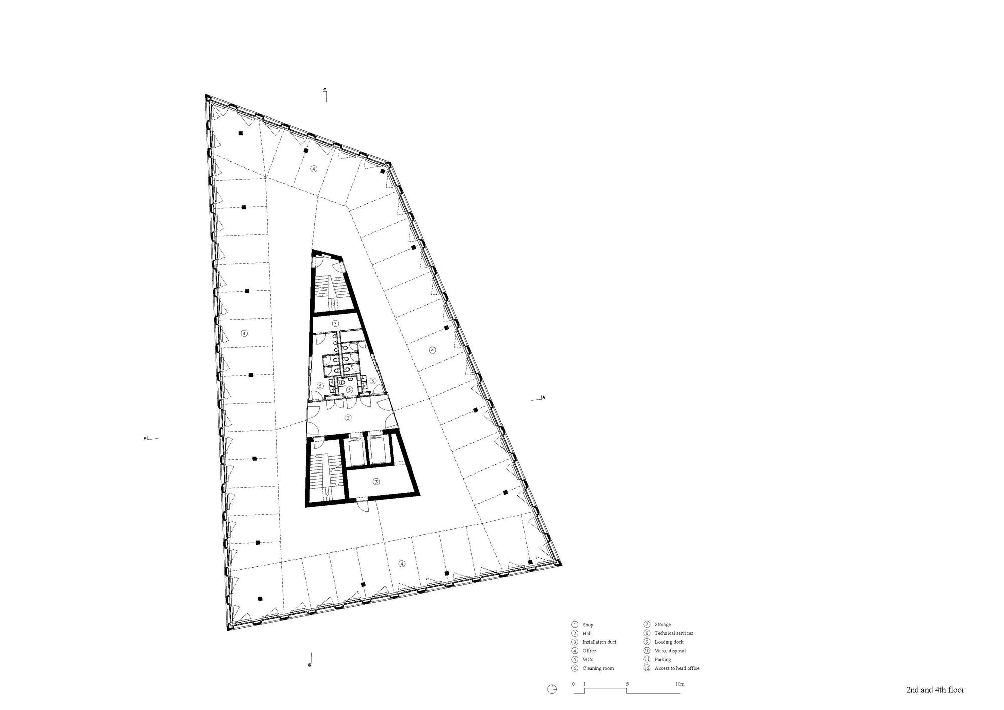 Triangular Floor Plan Gallery Of Office Building In Liestal Christ