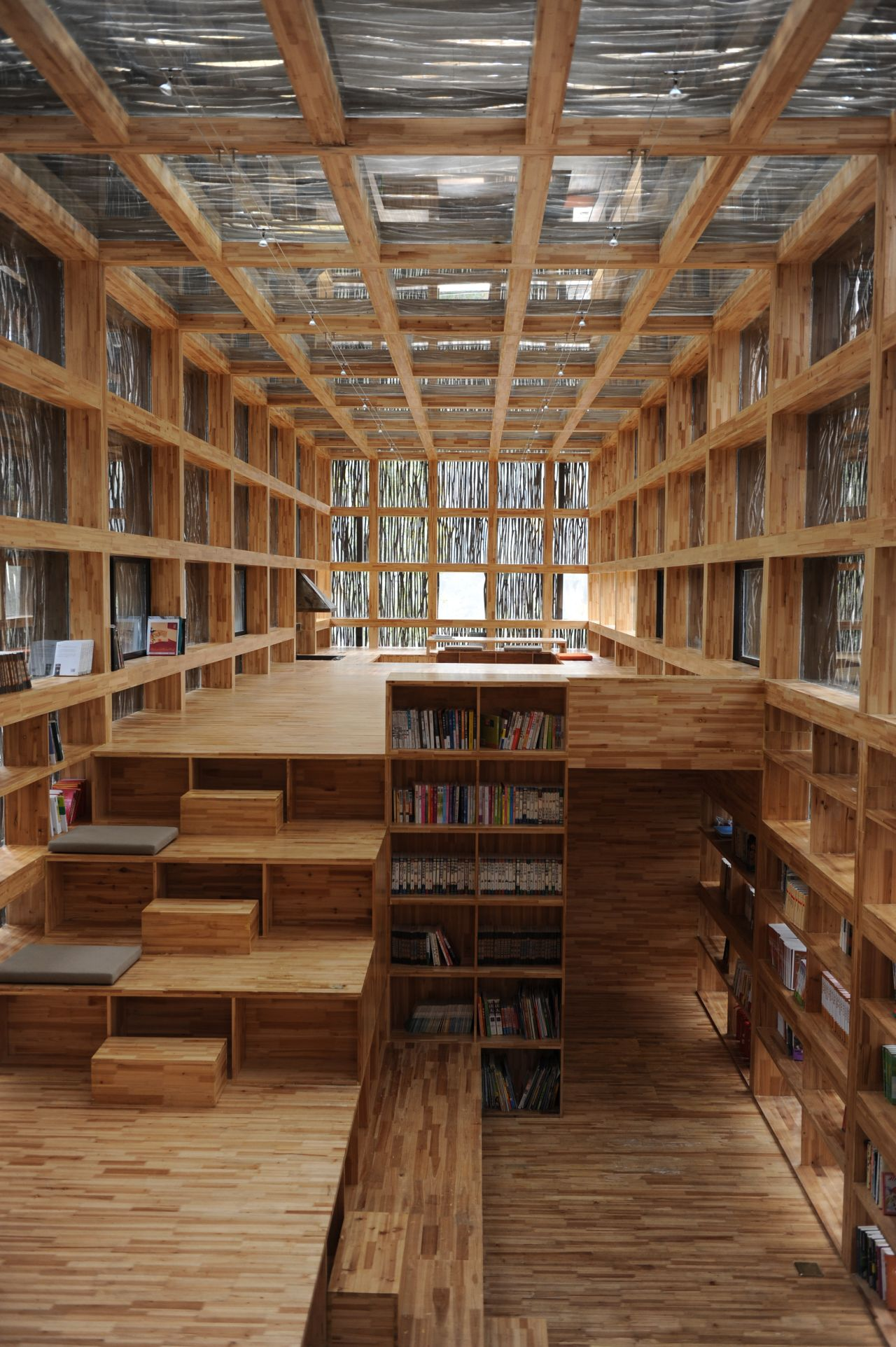 Liyuan library li xiaodong atelier archdaily for Meuble architectural