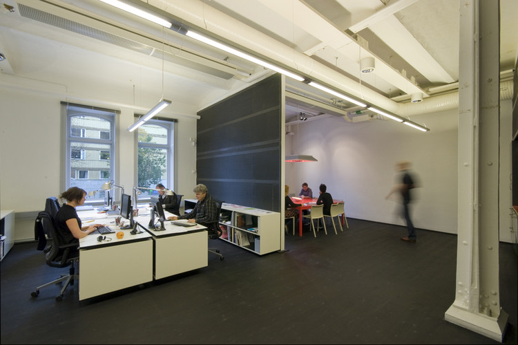 Office interior in a former bicycle factory / Rotstein Arkitekter