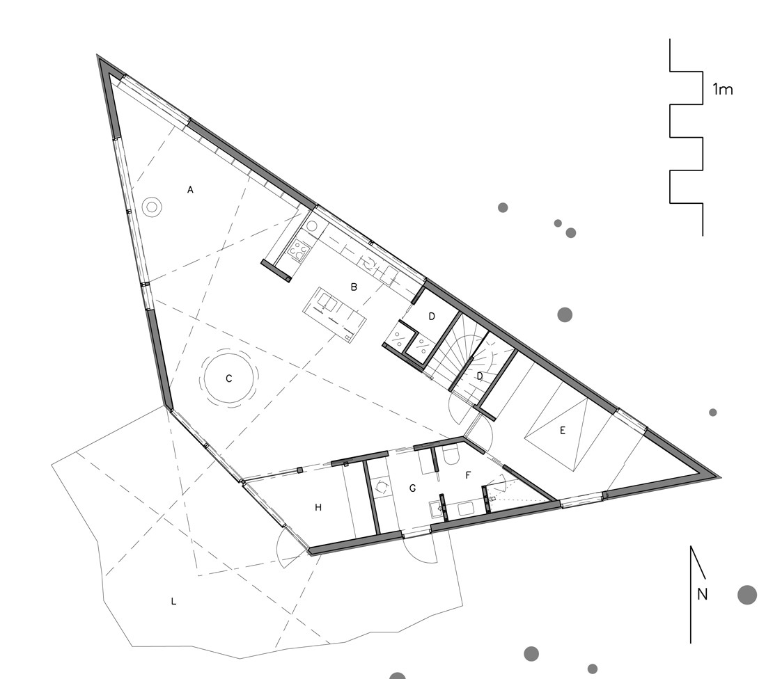 Gallery of triangle house jva 19 for Architecture triangulaire