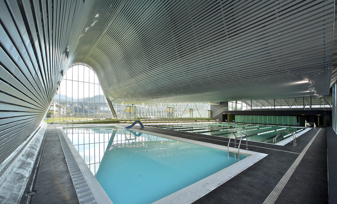 Gallery of sports and leisure centre acxt 9 for Swimming pool architecture