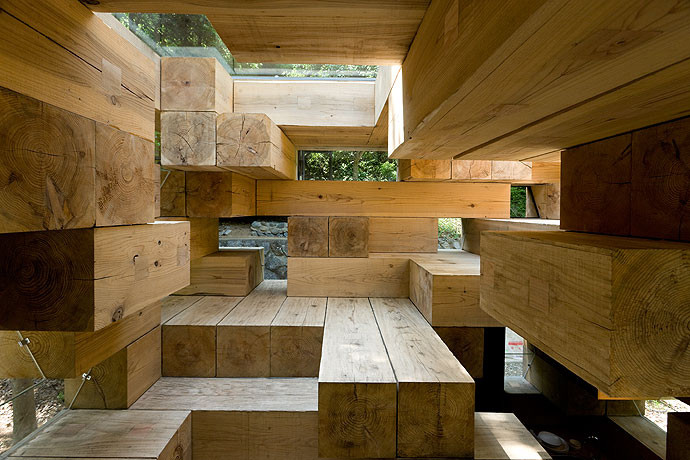 gallery of final wooden house sou fujimoto architects 5. Black Bedroom Furniture Sets. Home Design Ideas