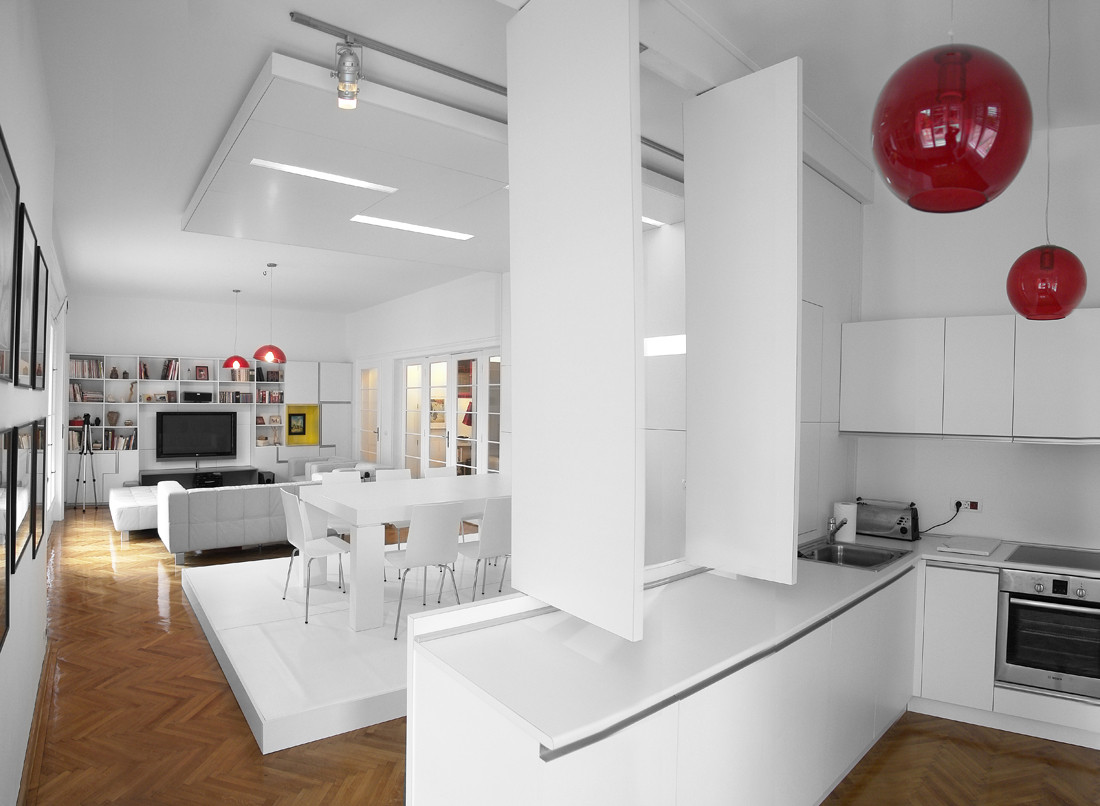 White Apartment white apartment / parasite studio | archdaily