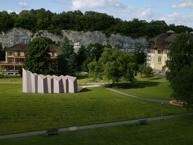 Temporary chapel for the Deaconesses of St-Loup - Localarchitecture / Danilo Mondada + LOCALARCHITECTURE, © Milo Keller