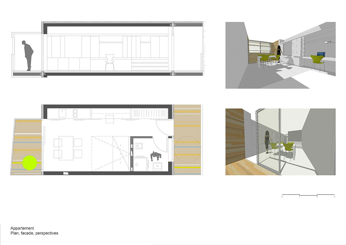 Shipping Container Floor Plan Designs Gallery Of Student Apartment Studios In Paris Ofis 8