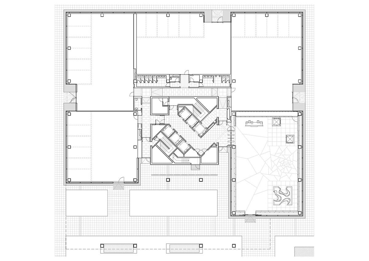 Theater Floor Plan Gallery Of D38 Office Arata Isozaki 15