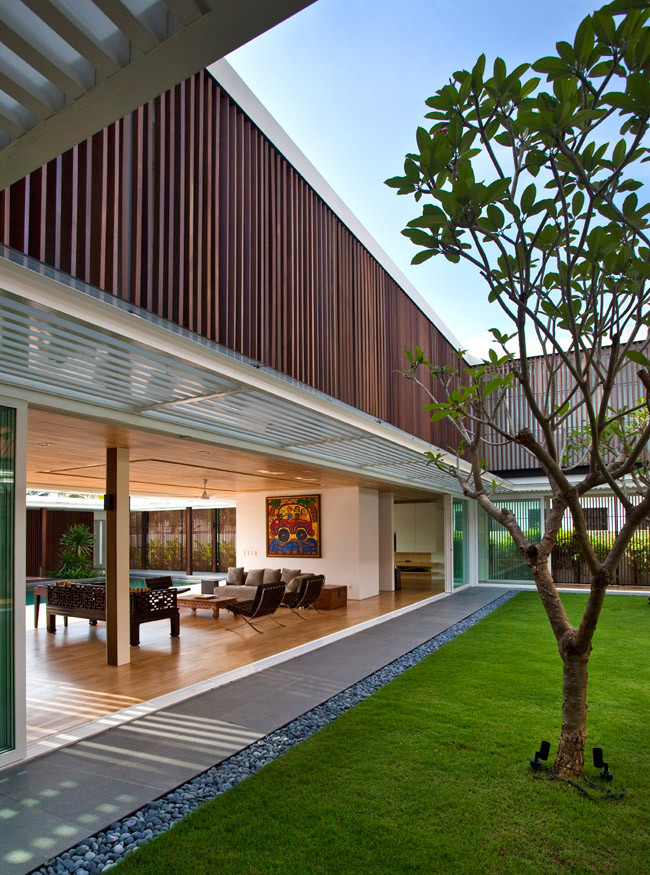 Gallery of six ramsgate wallflower architecture design for House design with garden in the middle