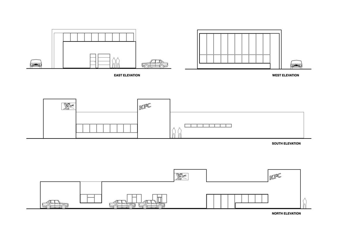 Gallery Of Fast Food Restaurant Kfc Pk Arkitektar 12