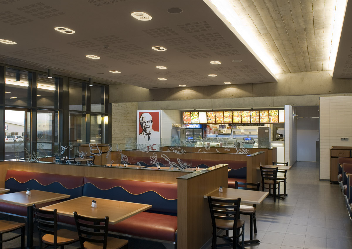 Gallery Of Fast Food Restaurant Kfc Pk Arkitektar 9