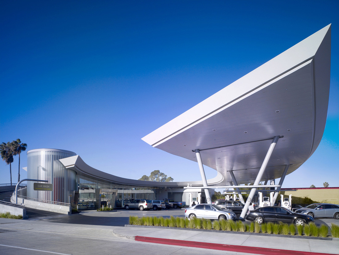 Gas Stations With Car Wash >> United Oil Gasoline Station / Kanner Architect | ArchDaily