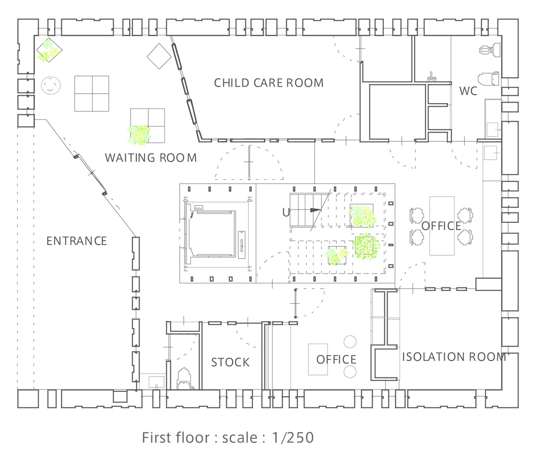 Vet Clinic Floor Plans Gallery Of T Clinic Suppose Design Office 11