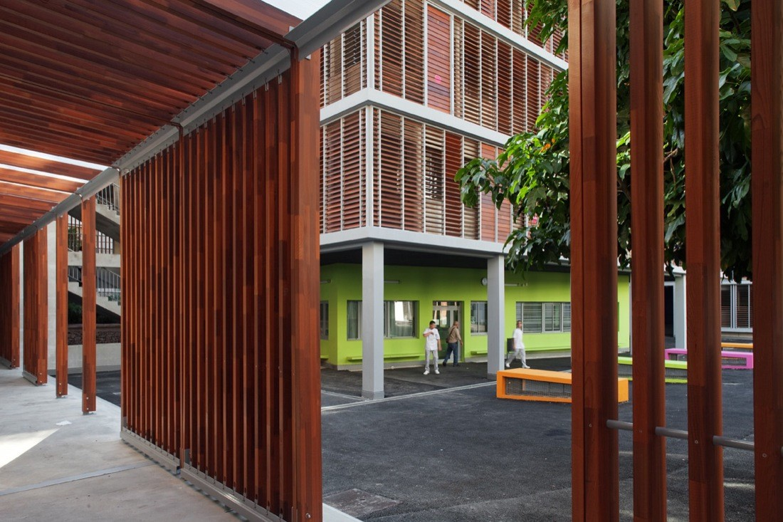 gallery of paul valery high school n b architectes 10. Black Bedroom Furniture Sets. Home Design Ideas