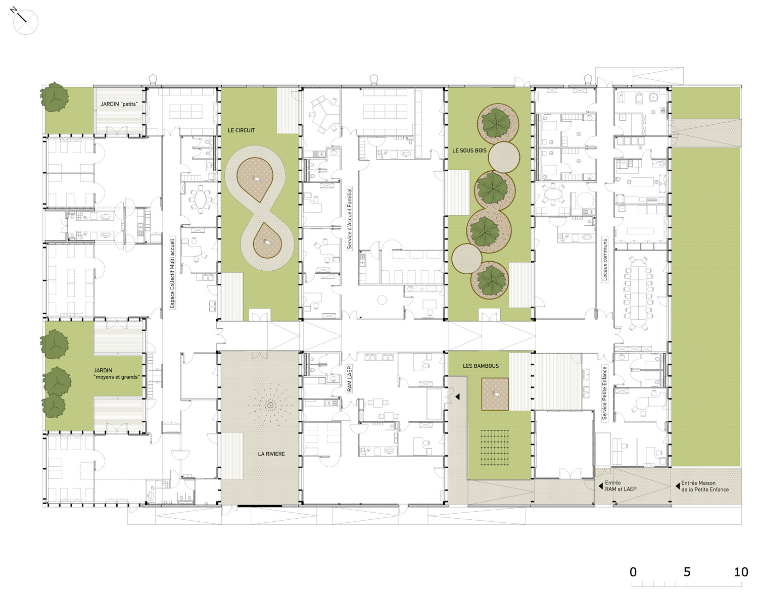 Gallery of epinay nursery school bp architectures 17 for Nursery layout planner