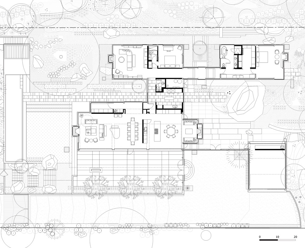 Gallery of montecito residence barton myers associates 16 for Linear architecture design