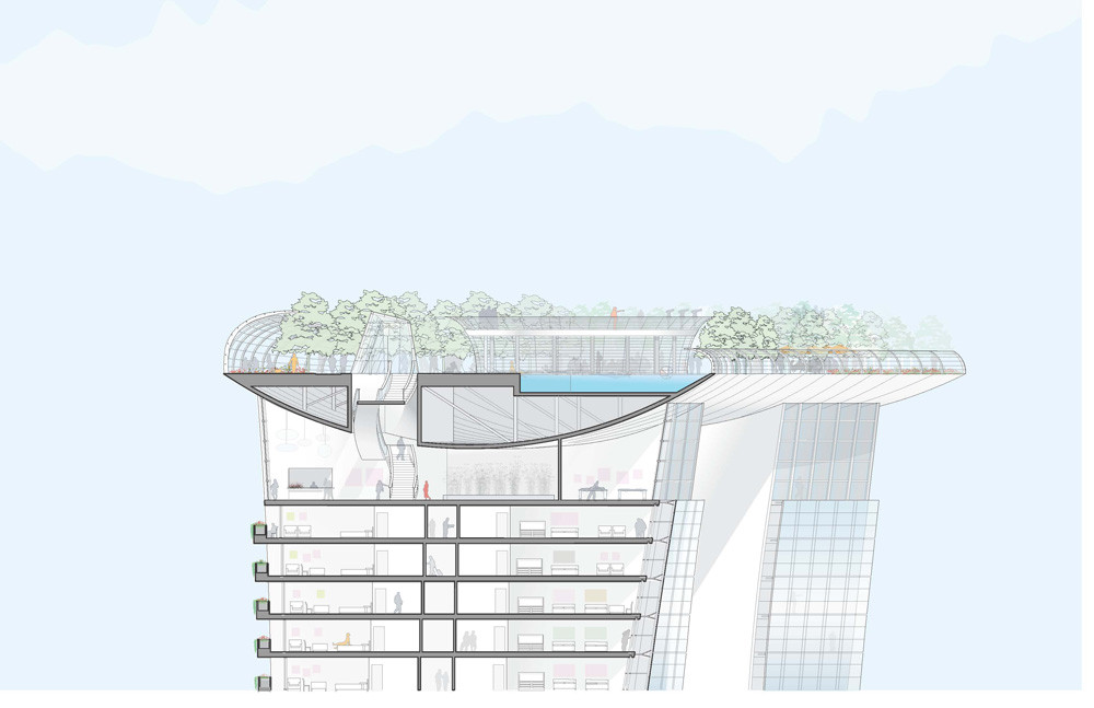 Gallery of marina bay sands safdie architects 30 for Marina bay sands architecture concept