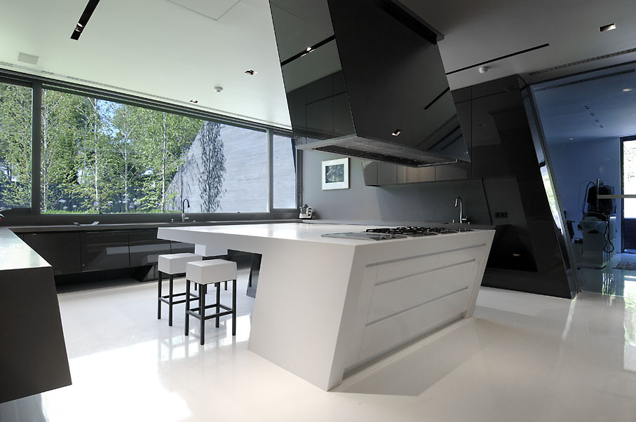 Gallery of concrete house ii a cero 3 for Salle a manger quartz
