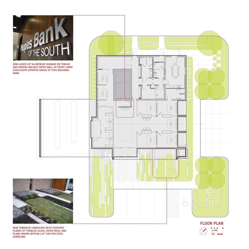 Design Bank Cor.Gallery Of Peoples Bank Of The South Sanders Pace Architecture 13