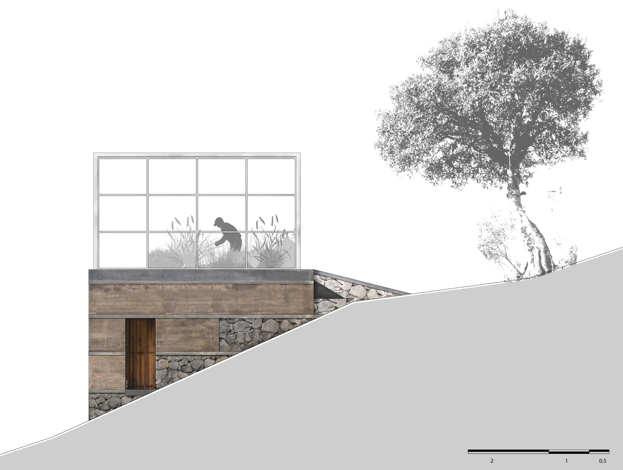 House Architecture Drawing Gallery Of Greenhouse Atelier