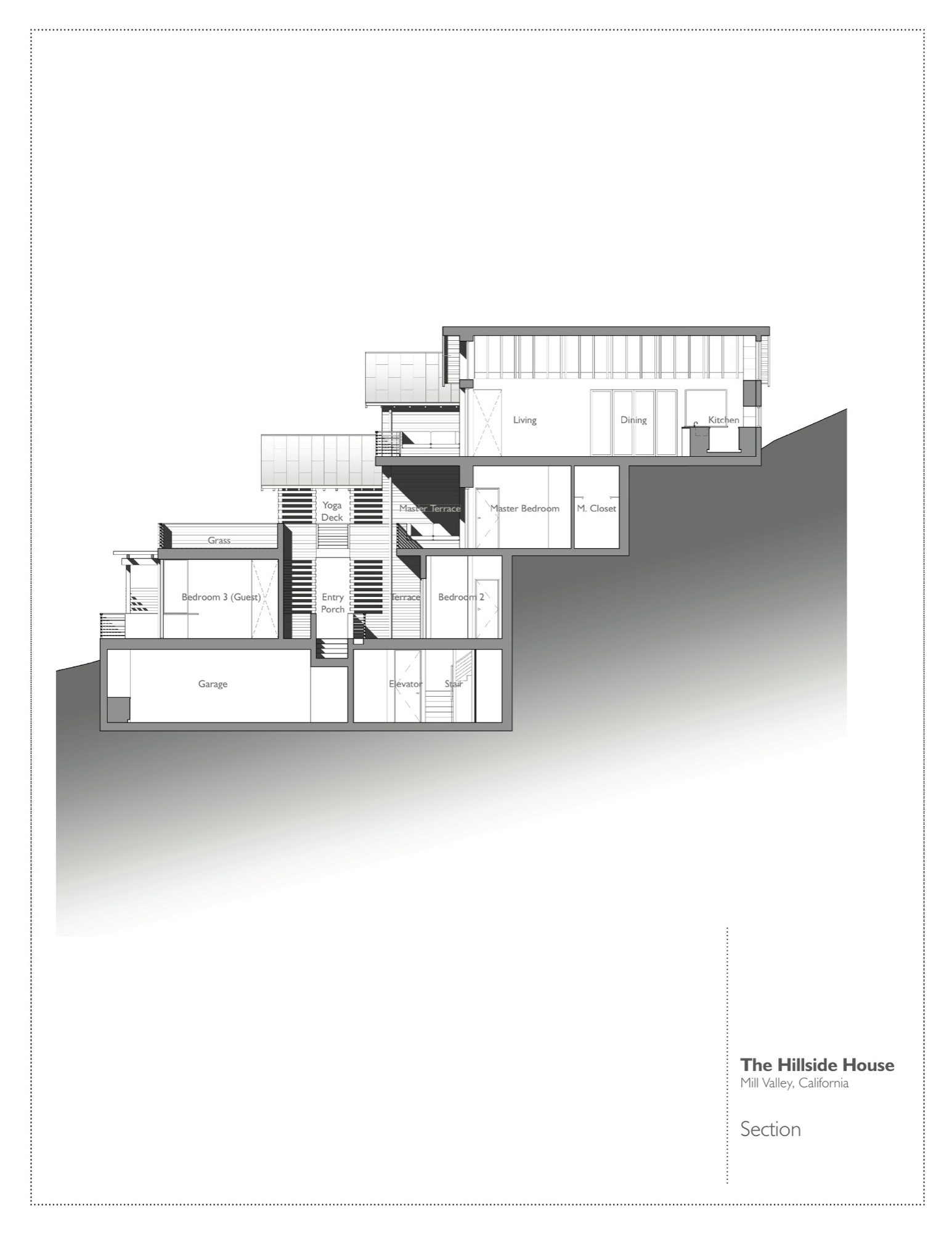 Gallery of hillside house sb architects 20 Hillside house plans for sloping lots