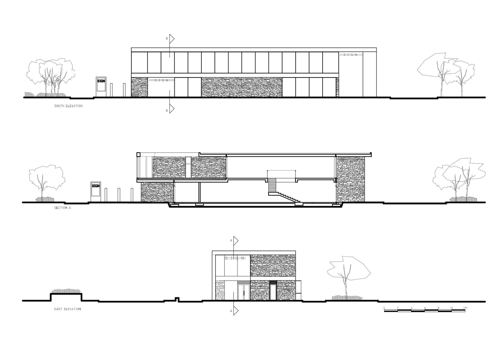 Drive Through Restaurant Paul Dillon Architects Archdaily