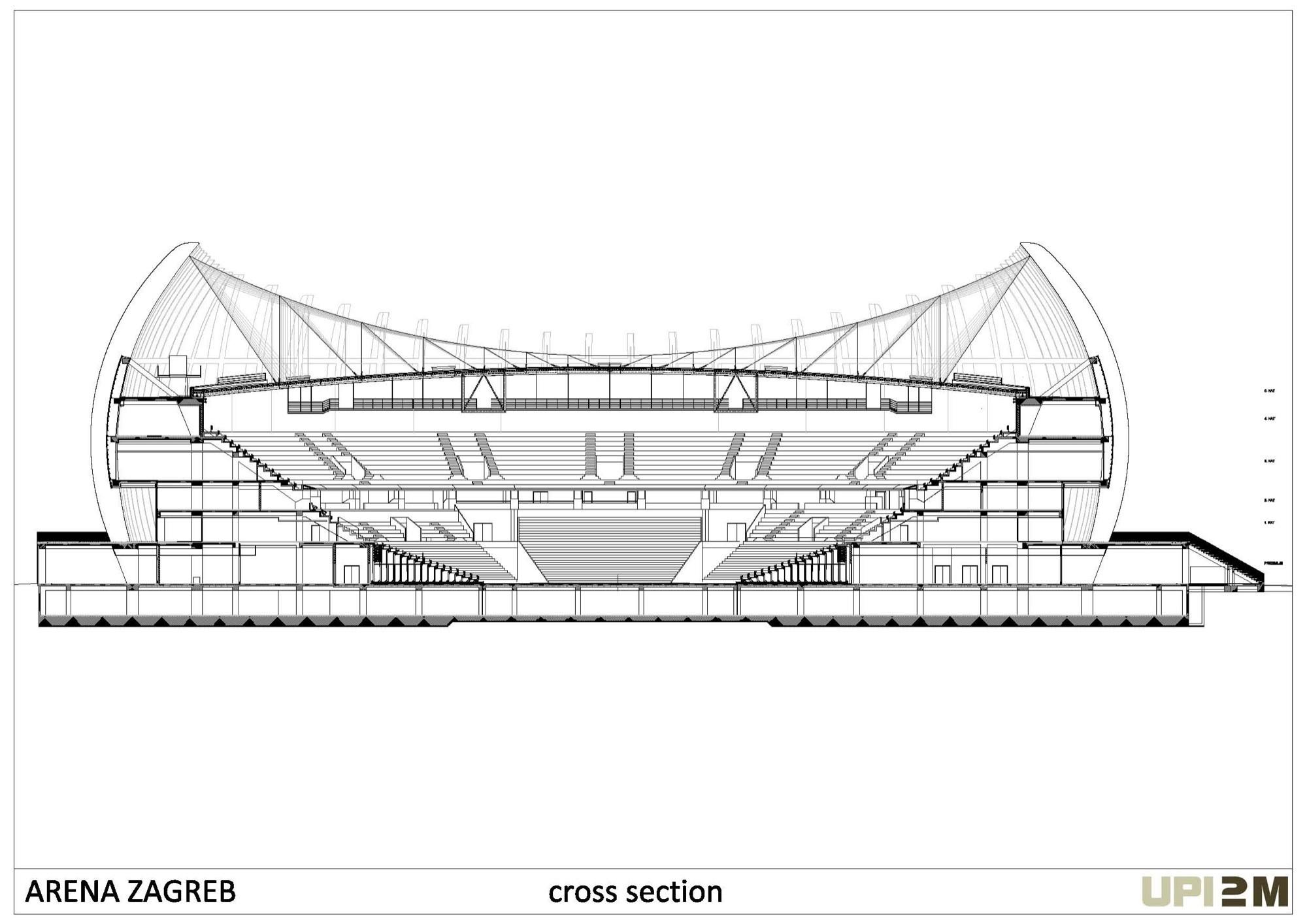Basketball Arena Floor Plan Gallery Of Arena Zagreb Upi 2m 41