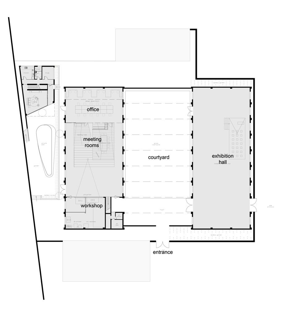 D Exhibition Floor Plan : Gallery of au office and exhibition space archi union