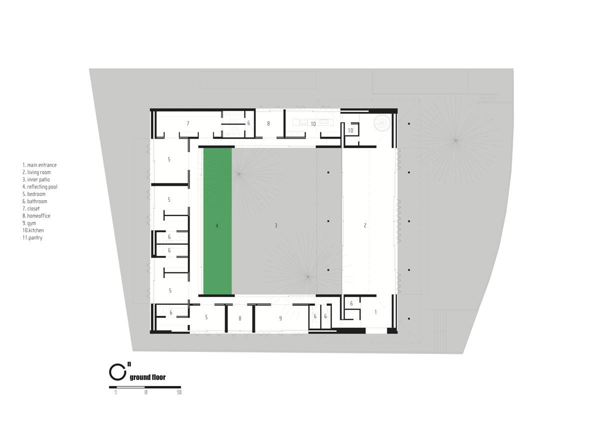 Gallery of bahia house marcio kogan 37 for Marcio kogan plans