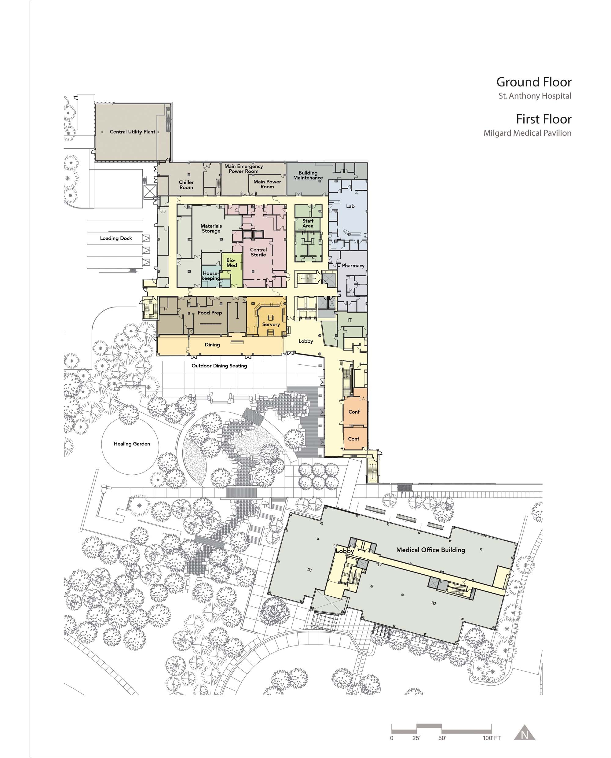 Gallery of st anthony hospital zgf architects 13 for Architecture house map design