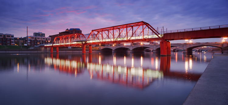Des Moines Union Railway Bridge / Safdie Rabines Architects, © Max Kun Zhang
