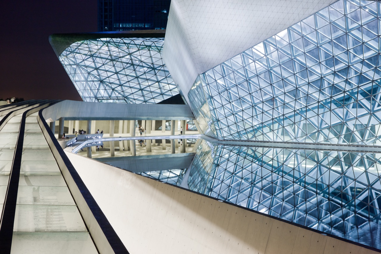 Guangzhou Opera House / Zaha Hadid Architects, © Iwan Baan