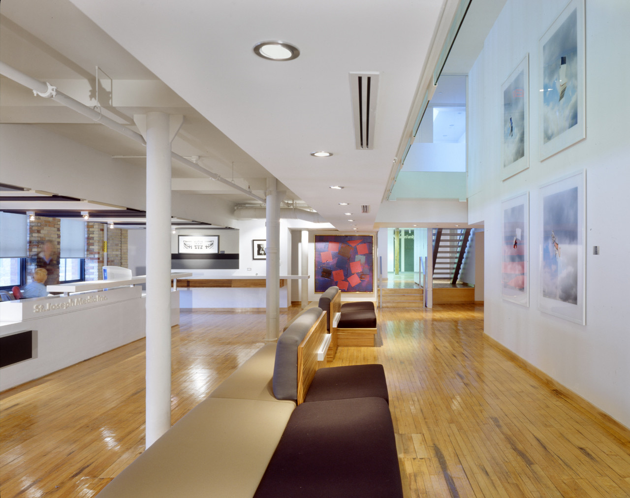 Gallery of st joseph s media teeple architects 2 for Most beautiful office design