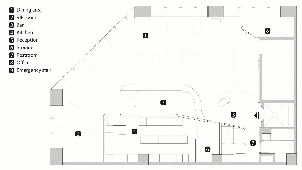 Gallery of MOJO iCuisine Interactive Restaurant / Moxie Design - 45