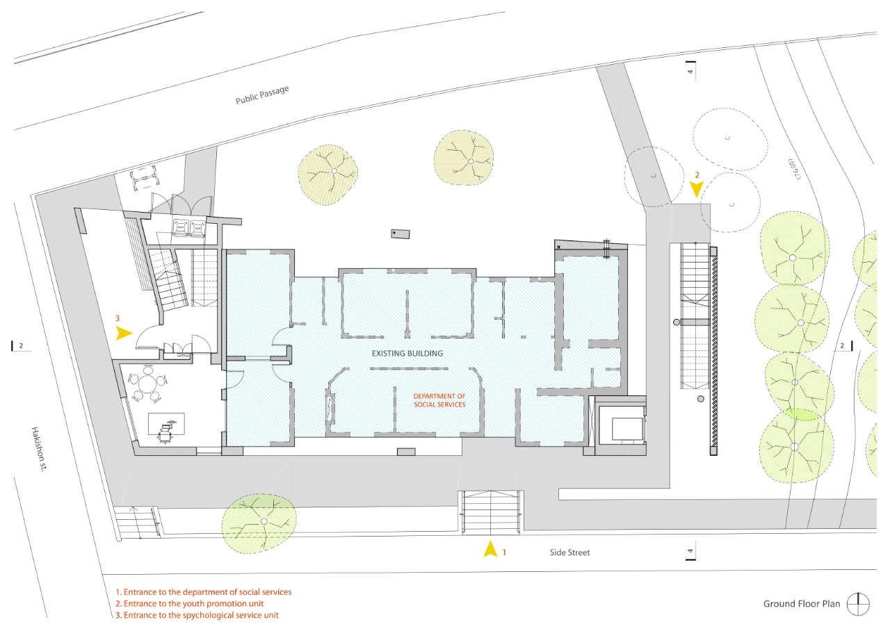 Gallery of social services building doron sheinman for Floor plan services