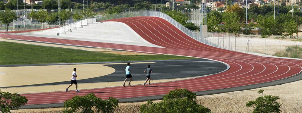 3D Athletics Track / Subarquitectura, © Subarquitectura