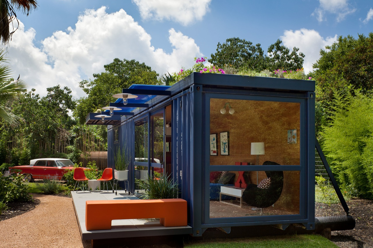 gallery of container guest house poteet architects 12