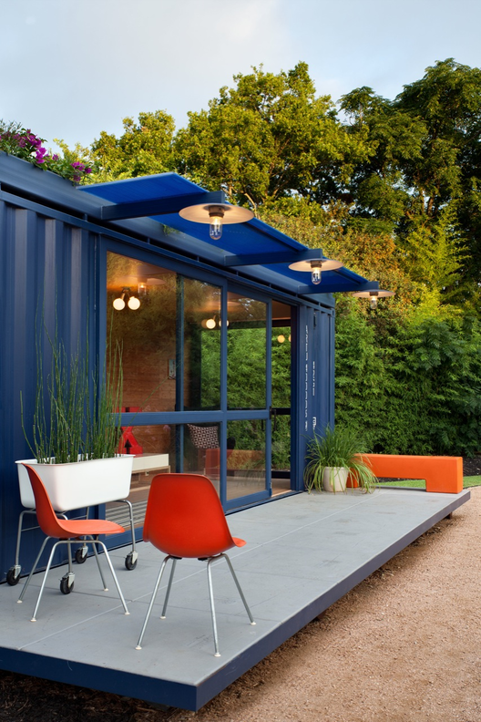 Container Guest House Poteet Architects Archdaily