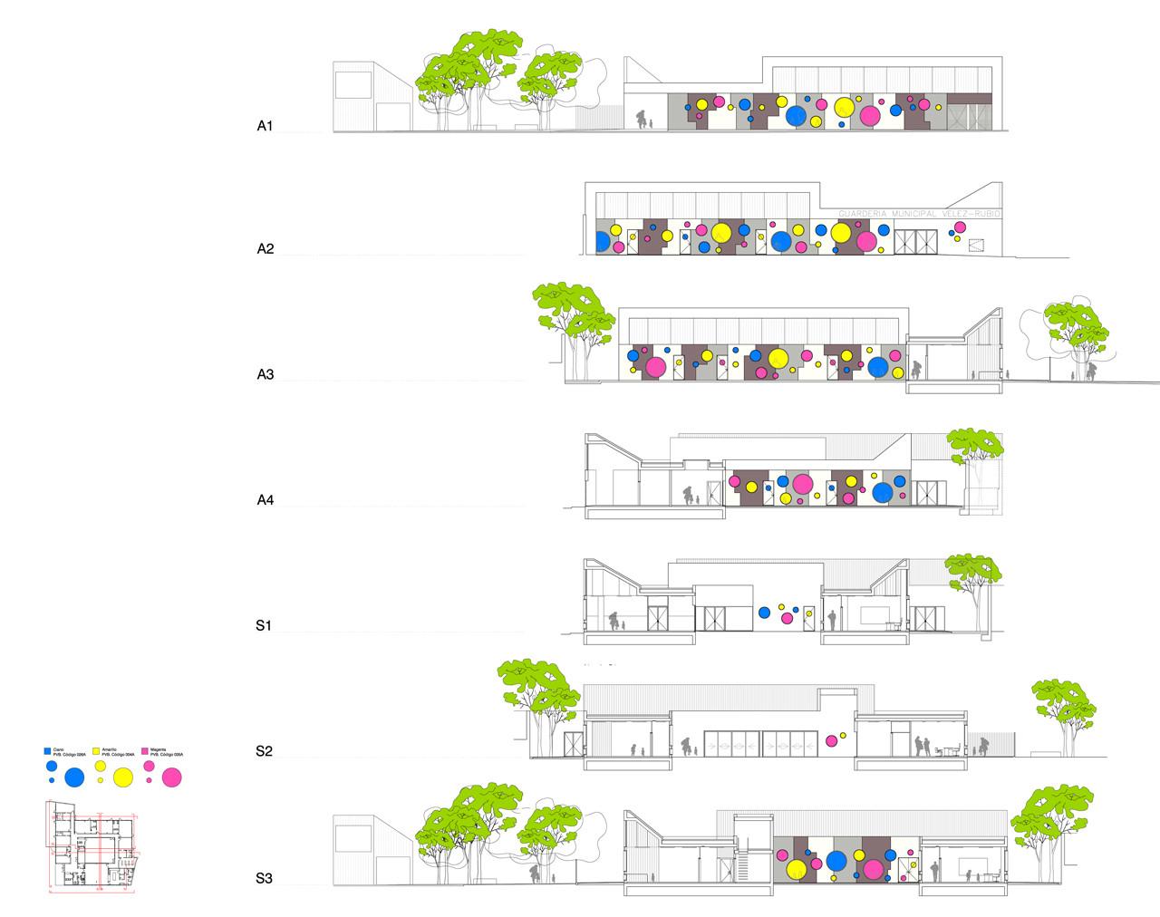 Kindergarten Plan Elevation Section : Gallery of kindergarten units velez rubio