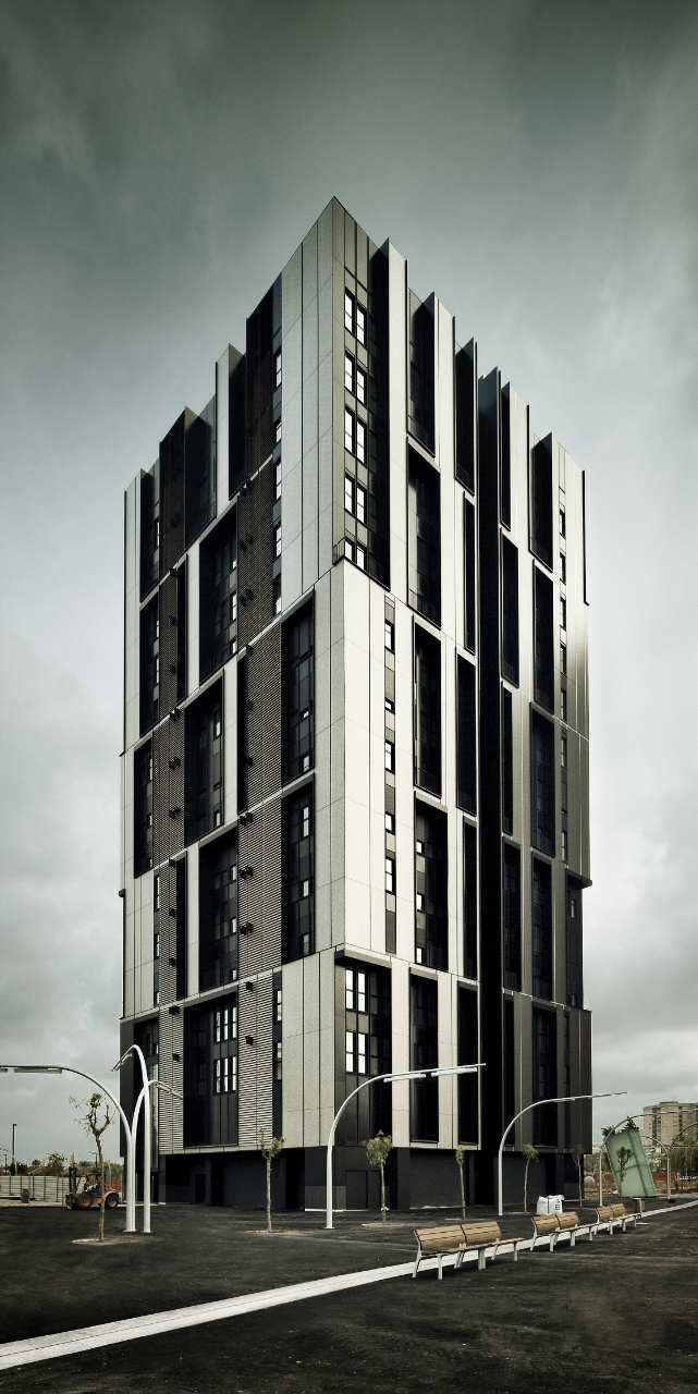 Social Housing Tower Of 75 Units In Europa Square / Roldán + Berengué, © Jordi Surroca