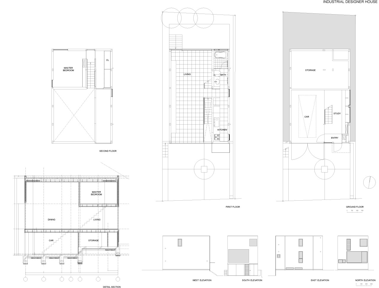 Gallery of industrial designer house koji tsutsui for Japanese minimalist house plans