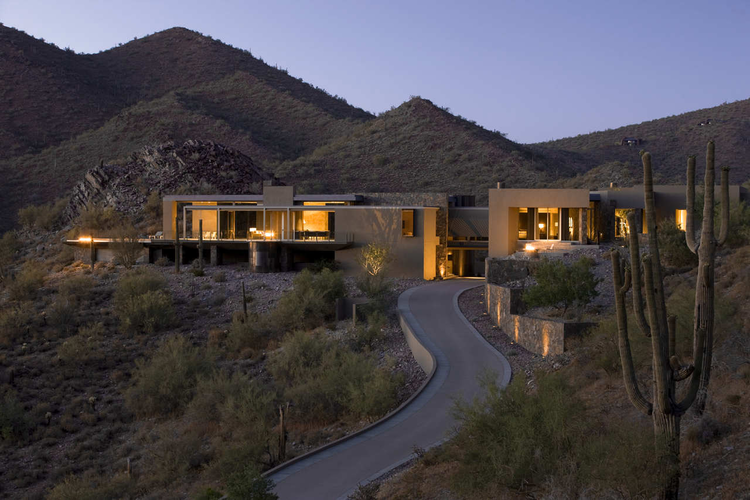 House In Scottsdale Allen Philp Architects Archdaily
