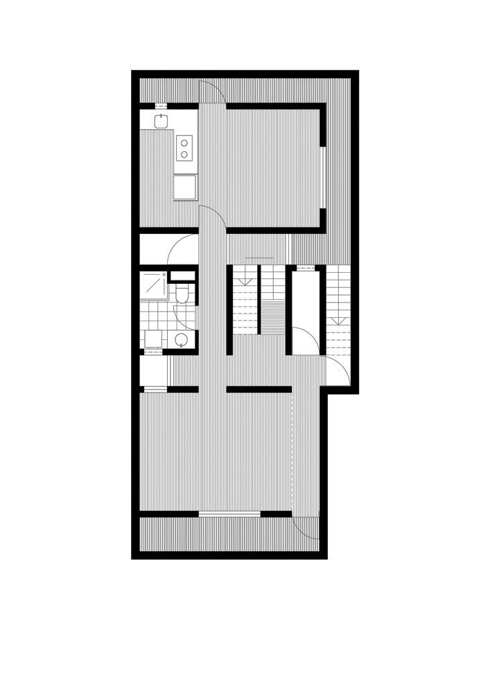 Concrete Slit House,Plan