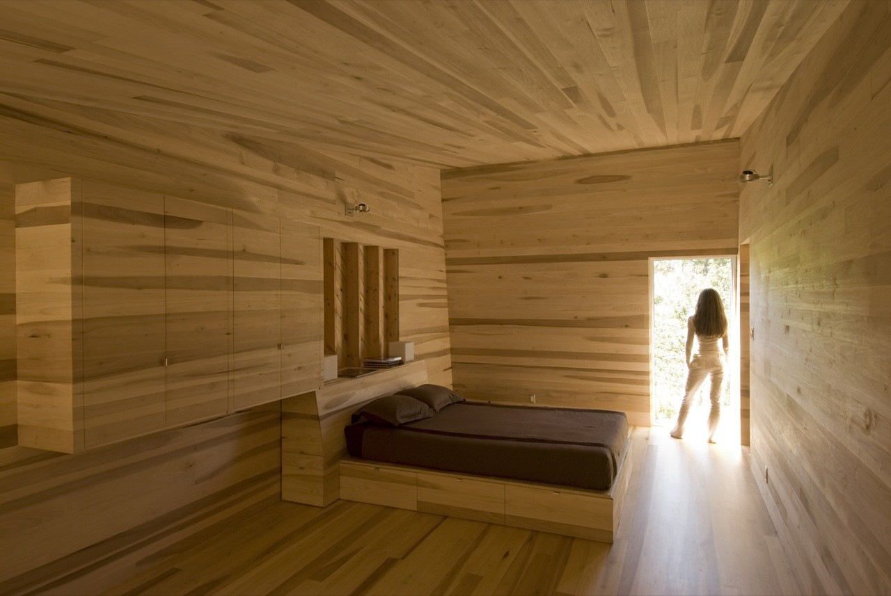 Gallery of sliding house mackay lyons sweetapple for Wood designs for walls interior designers