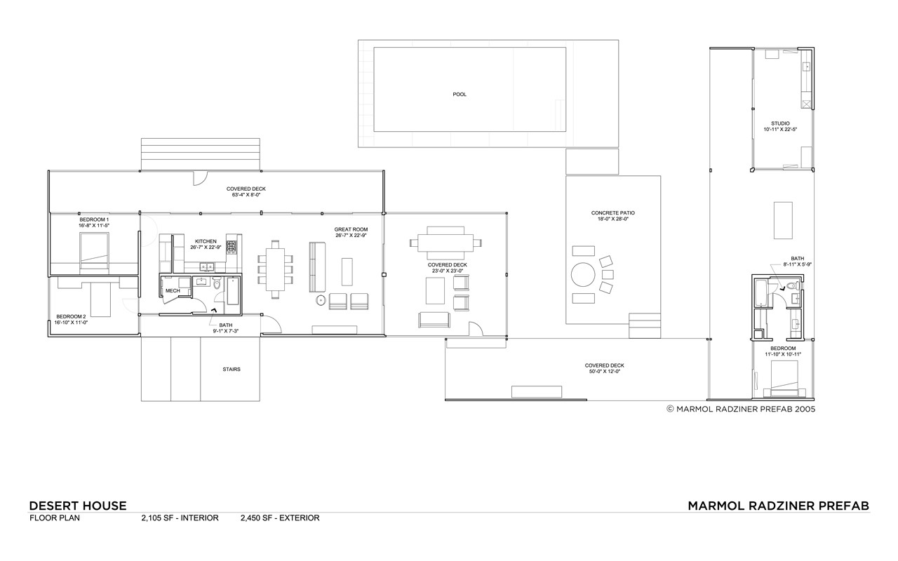 Desert House / Marmol Radziner. 25 / 27. Plan