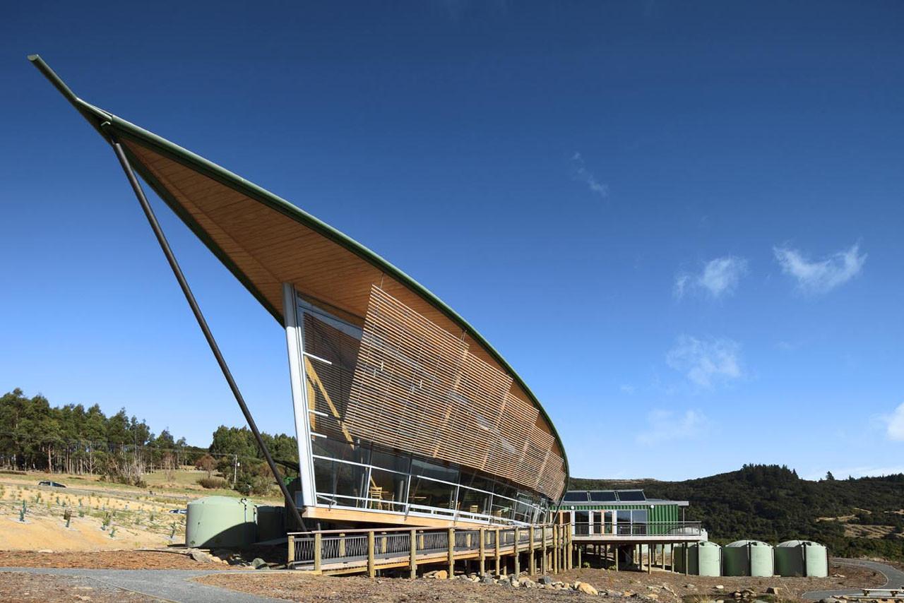 Orokonui ecosanctuary visitor centre architectural Architecture nature