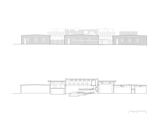 elevation + section