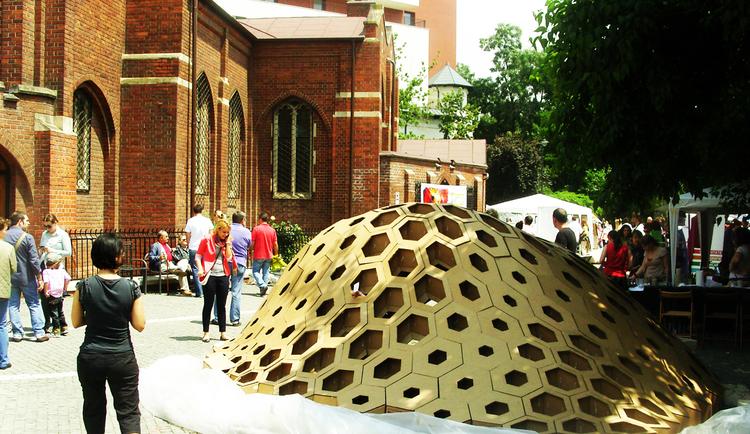 Hexigloo Pavilion / Tudor Cosmatu, Irina Bogdan, Andrei Raducanu, Courtesy of  bence pap